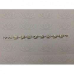 SB 0005 Bracelet Shiva Eye Shell Silver