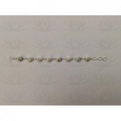 SB 0013 Bracelet Shiva Eye Shell Silver