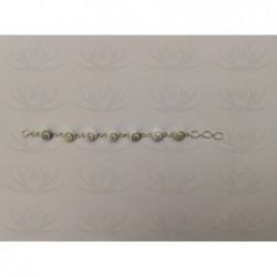 SB 0014 Bracelet Shiva Eye Shell Silver