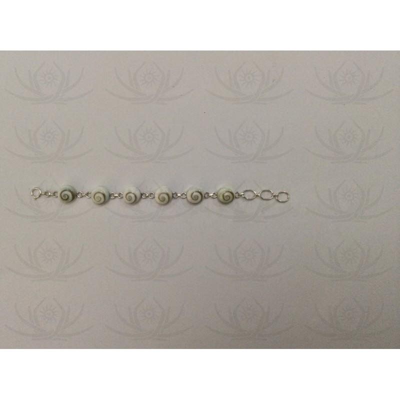 SB 0015 Bracelet Shiva Eye Shell Silver