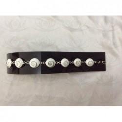 SB 0055 Bracelet Shiva Eye Shell Silver