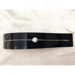 SB 0083 Bracelet Shiva Eye Shell Silver
