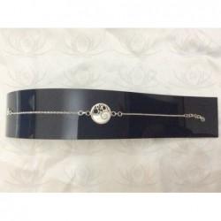 SB 0084 Bracelet Shiva Eye Shell Silver