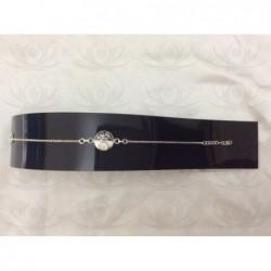 SB 0117 Bracelet Shiva Eye Shell Silver