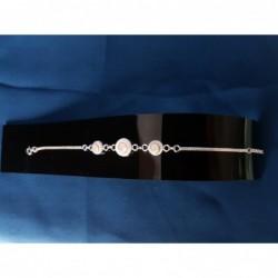 SB 0125 Bracelet Shiva Eye Shell Silver