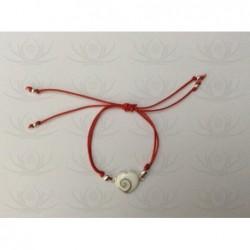 SB 0133 Bracelet Shiva Eye Shell Silver