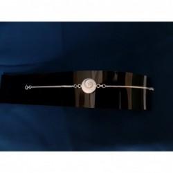 SB 0144 Bracelet Shiva Eye Shell Silver