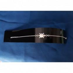 SB 0151 Bracelet Shiva Eye Shell Silver