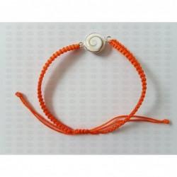 SB 0154 Bracelet Shiva Eye Shell Silver