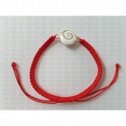 SB 0155 Bracelet Shiva Eye Shell Silver