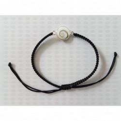 SB 0157 Bracelet Shiva Eye Shell Silver
