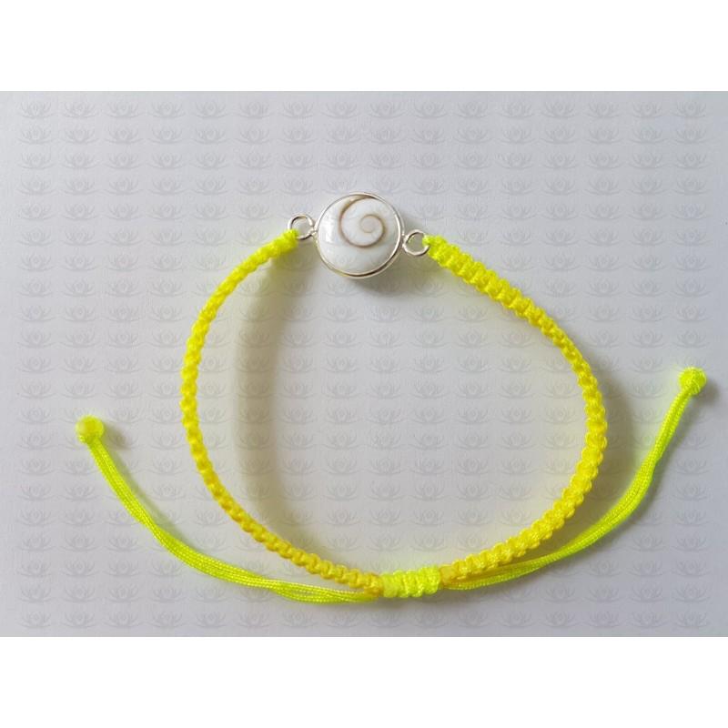 SB 0158 Bracelet Shiva Eye Shell Silver