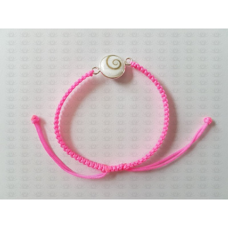 SB 0159 Bracelet Shiva Eye Shell Silver
