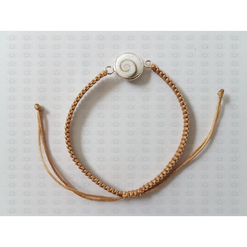 SB 0160 Bracelet Shiva Eye Shell Silver