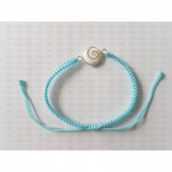 SB 0162 Bracelet Shiva Eye Shell Silver