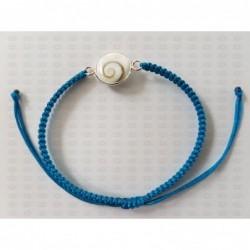 SB 0163 Bracelet Shiva Eye Shell Silver