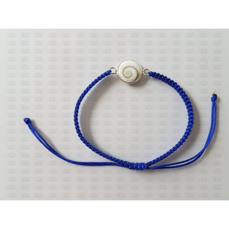 SB 0164 Bracelet Shiva Eye Shell Silver