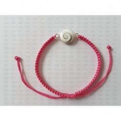 SB 0165 Bracelet Shiva Eye Shell Silver