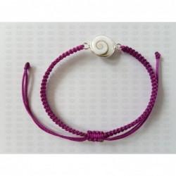 SB 0166 Bracelet Shiva Eye Shell Silver