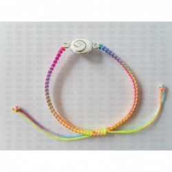 SB 0167 Bracelet Shiva Eye Shell Silver