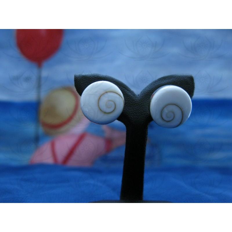LE 0013s Earrings Shiva Eye Shell Silver
