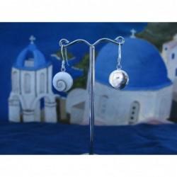 LE 0021r Earrings Shiva Eye Shell Silver