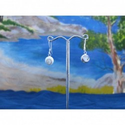 LE 0023r Earrings Shiva Eye Shell Silver