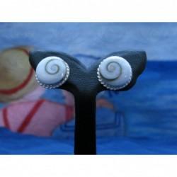 LE 0027s Earrings Shiva Eye Shell Silver