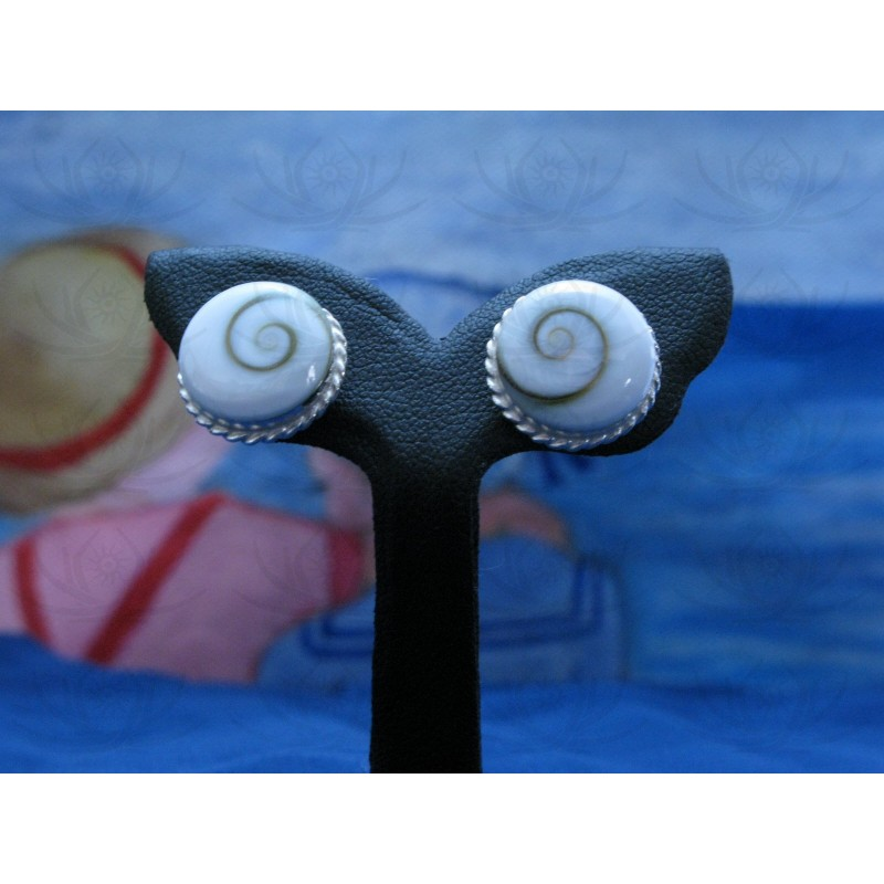 LE 0027s Earrings Shiva Eye Shell Silver