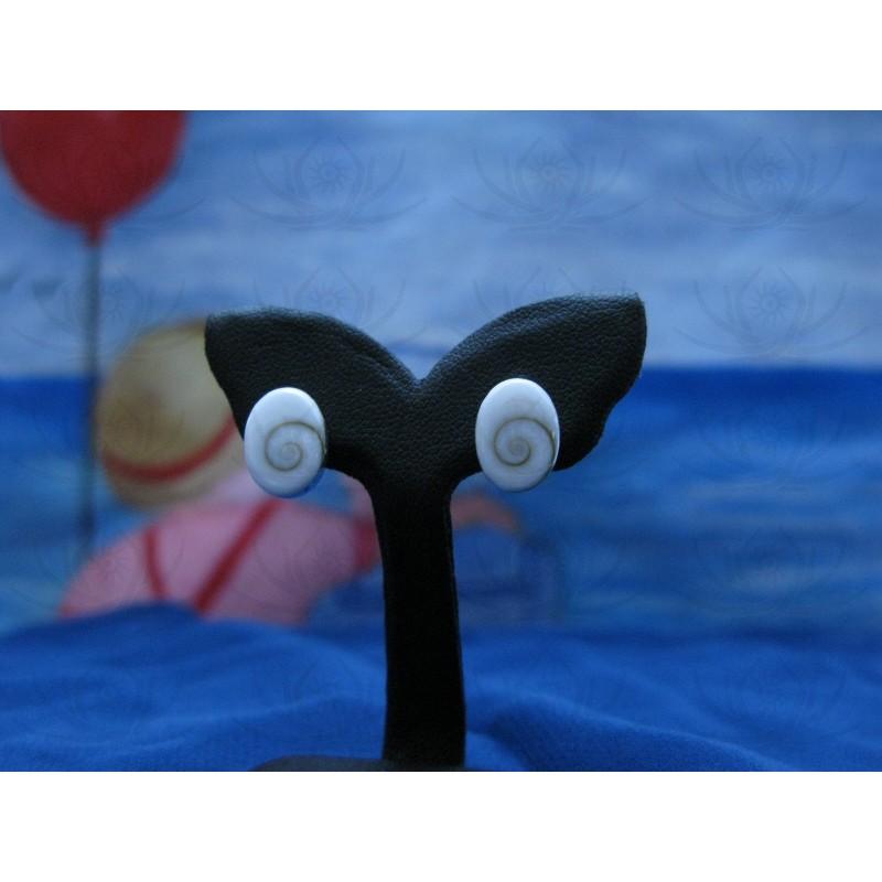 LE 0036so Earrings Shiva Eye Shell Silver