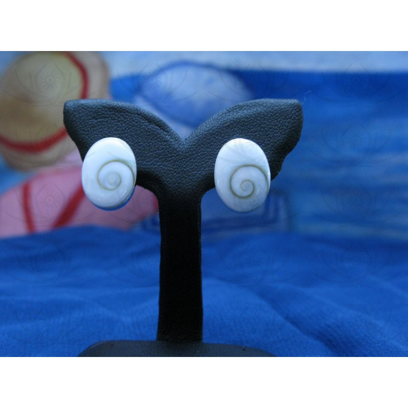 LE 0037so Earrings Shiva Eye Shell Silver