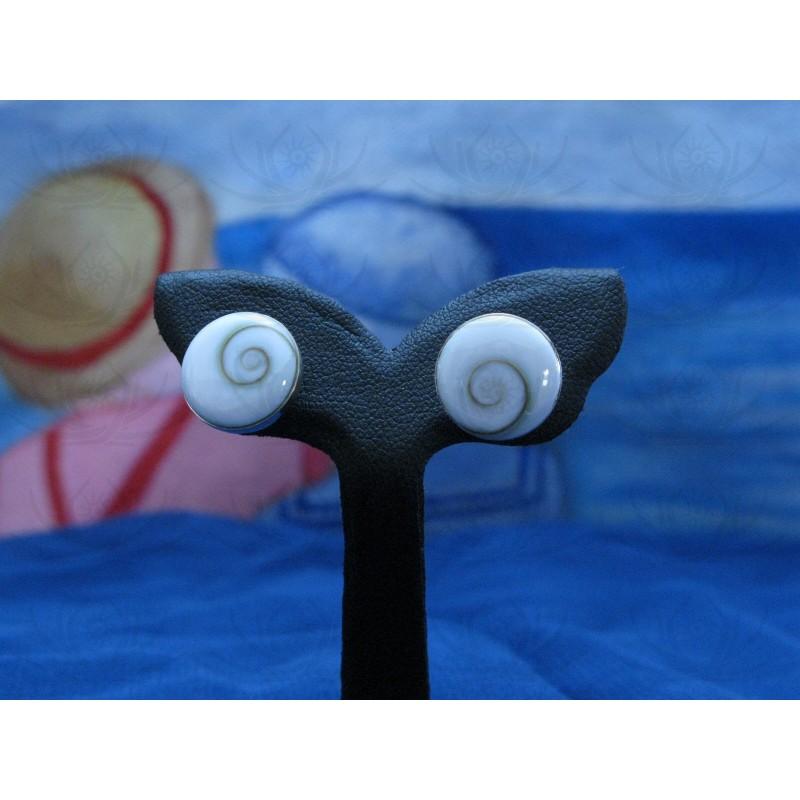 LE 0037sr Earrings Shiva Eye Shell Silver