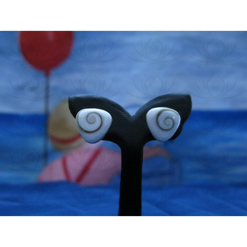 LE 0041s Earrings Shiva Eye Shell Silver
