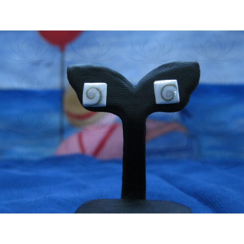 LE 0059s Earrings Shiva Eye Shell Silver
