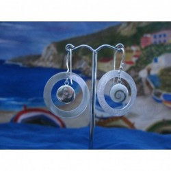 LE 0075 Earrings Shiva Eye Shell Silver