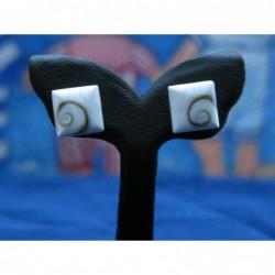 LE 0085s Earrings Shiva Eye Shell Silver