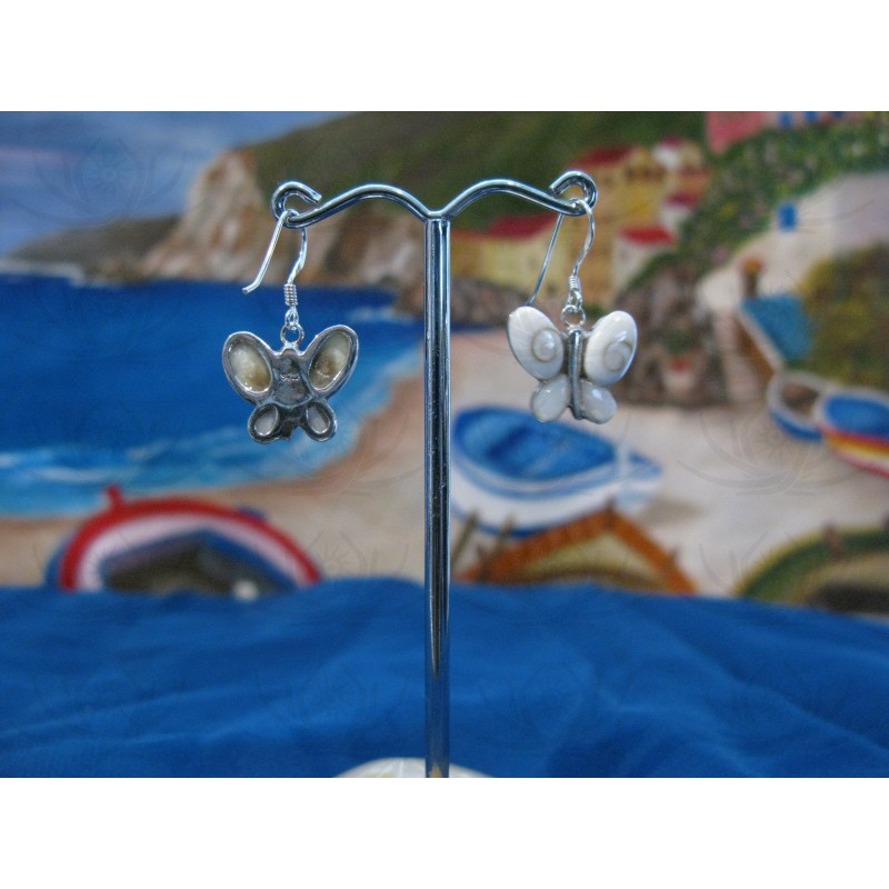 LE 0086ma Earrings Shiva Eye Shell Silver