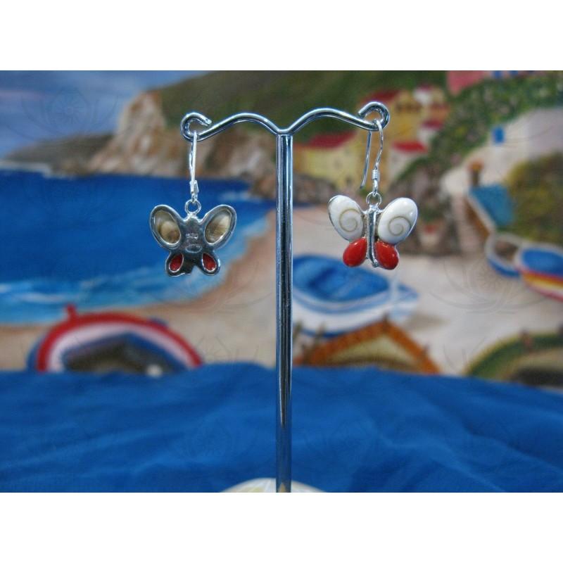 LE 0086re Earrings Shiva Eye Shell Silver