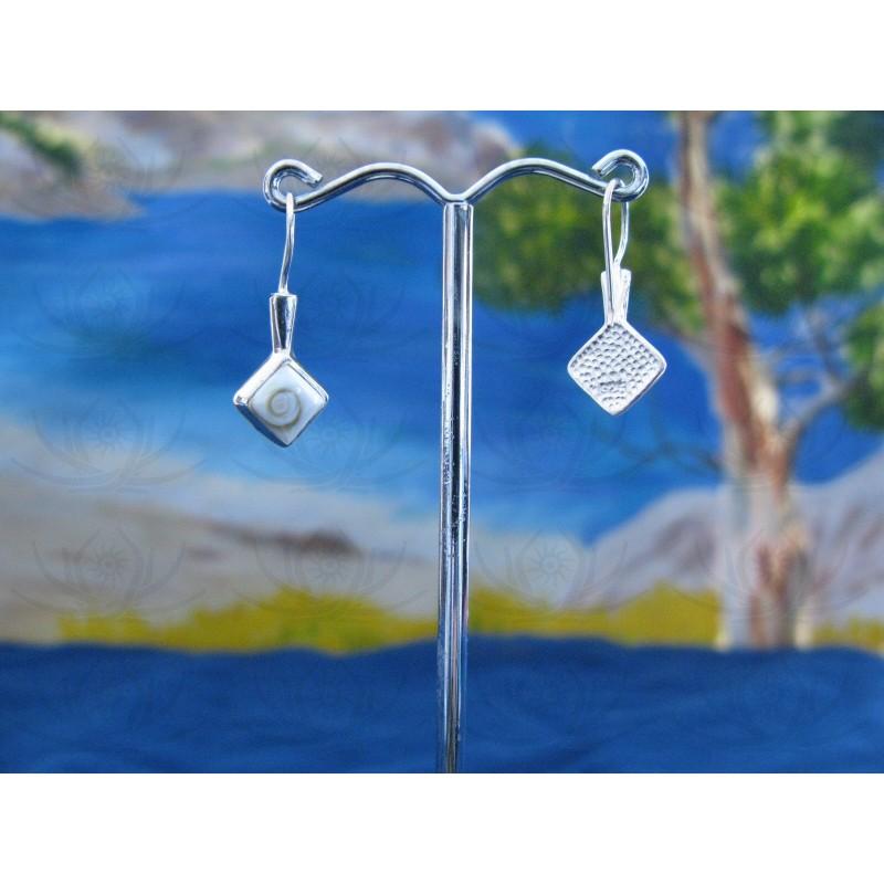 LE 0094 Earrings Shiva Eye Shell Silver