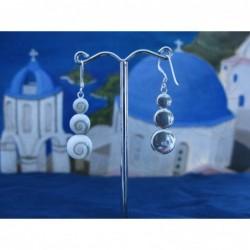 LE 0096 Earrings Shiva Eye Shell Silver