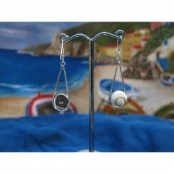 LE 0098 Earrings Shiva Eye Shell Silver