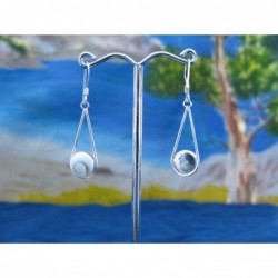 LE 0099 Earrings Shiva Eye Shell Silver