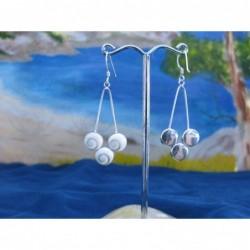 LE 0100 Earrings Shiva Eye Shell Silver