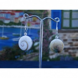 LE 0101 Earrings Shiva Eye Shell Silver