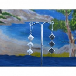 LE 0105 Earrings Shiva Eye Shell Silver