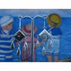 LE 0106 Earrings Shiva Eye Shell Silver