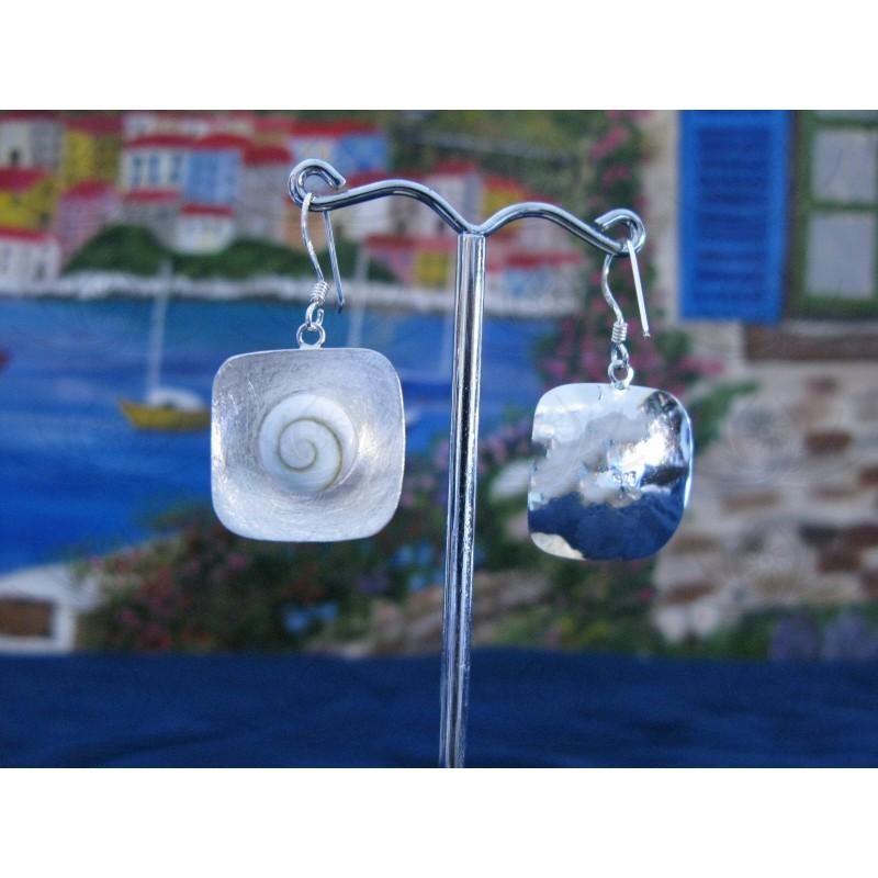 LE 0110sq Earrings Shiva Eye Shell Silver