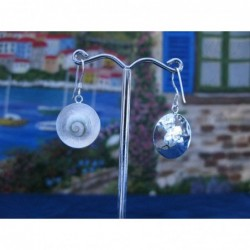LE 0111 Earrings Shiva Eye Shell Silver