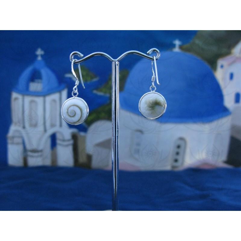 LE 0119 Earrings Shiva Eye Shell Silver