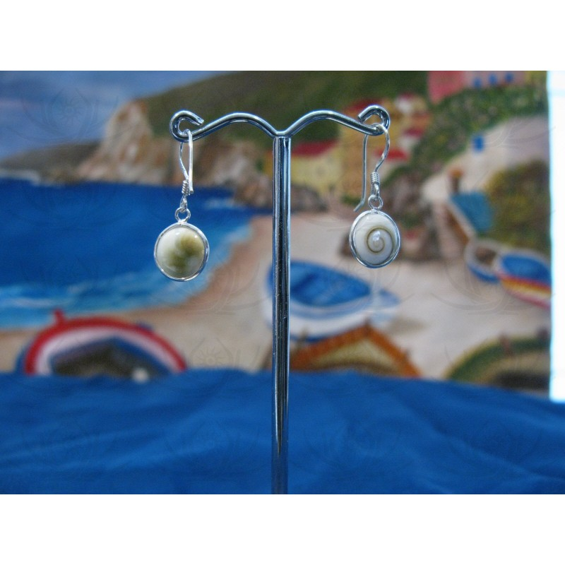 LE 0120 Earrings Shiva Eye Shell Silver